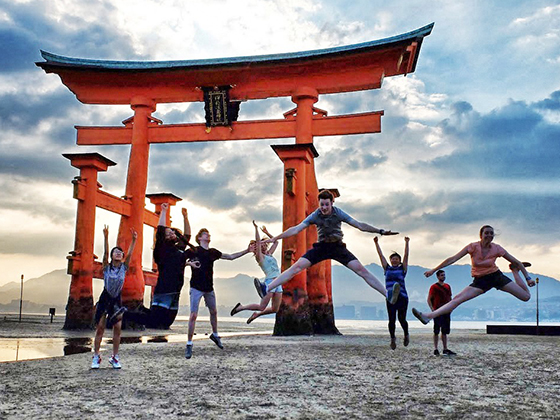 University of Minnesota students at Miyajima